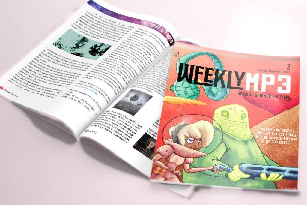 Couverture et aperçu page du second magazine