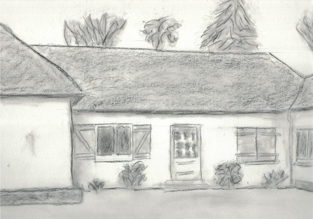 Dessin d'une maison vue de l'exterieur
