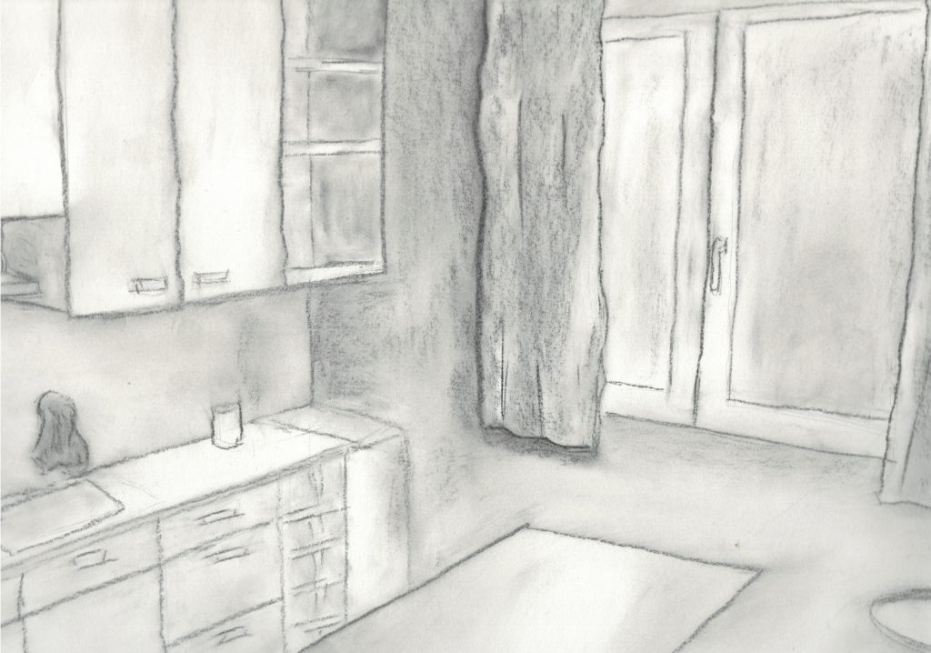dessin d'une cuisine