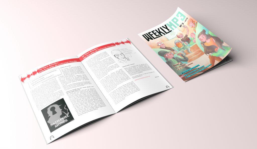 Couverture et aperçu pages du troisième magazine