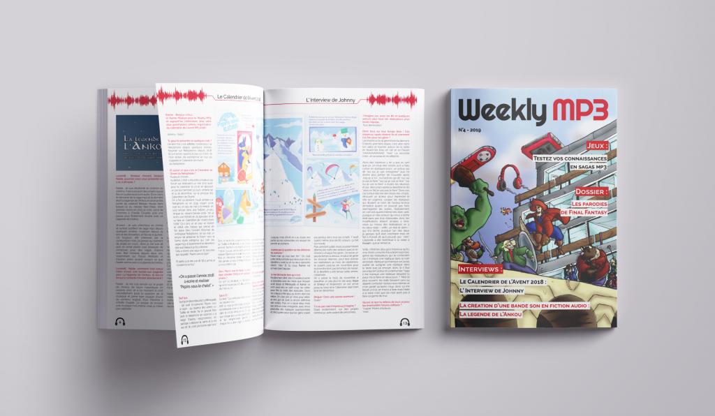 couverture et aperçu pages magazne 4