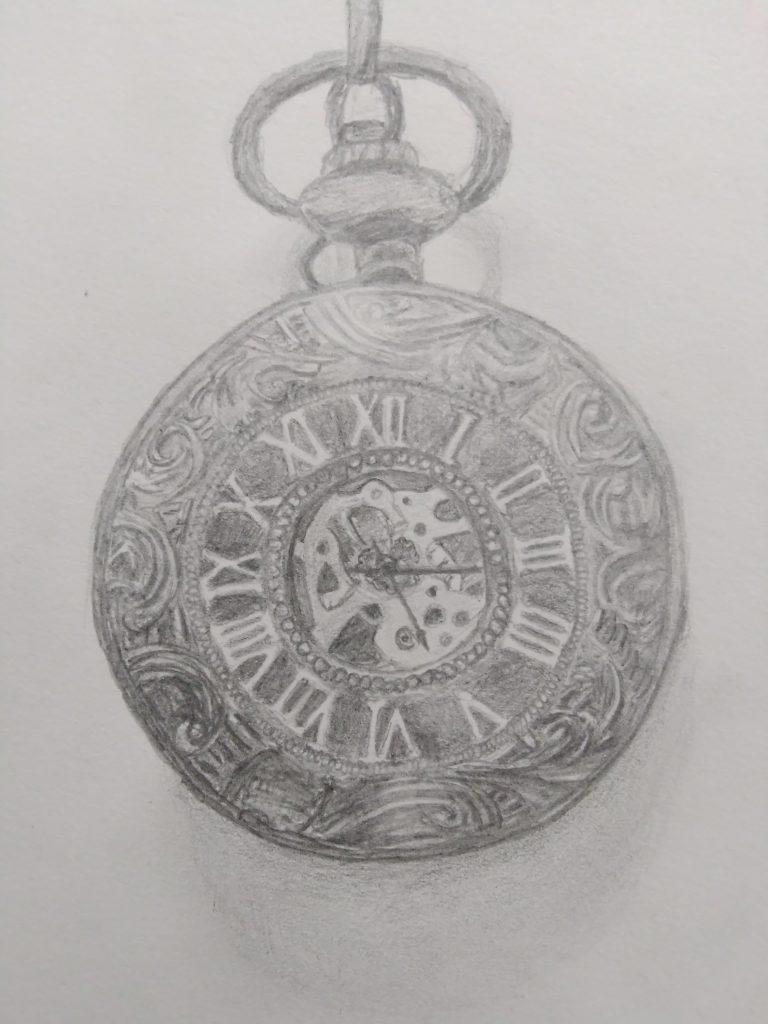 dessin de montre à gousset