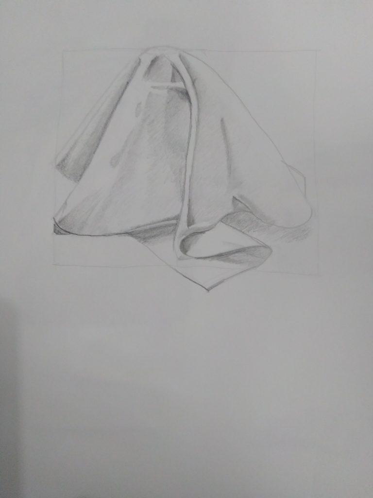 dessin drappé