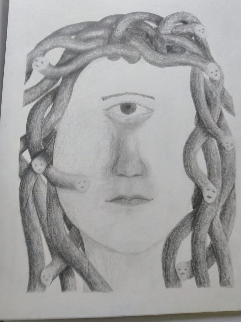dessin méduse cyclope